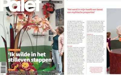 Linda Nieuwstad on the cover of Palet Magazine March/April 2020