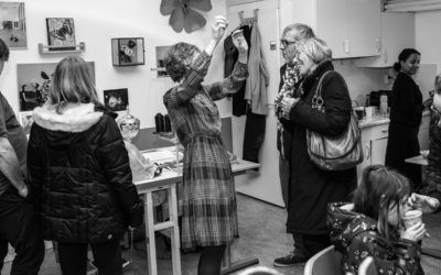 many visitors during open studio 16th February