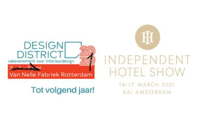 Independent Hotel Show 2020 and Design District 2020 canceled